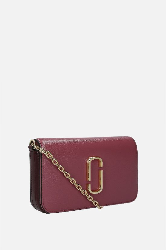 MARC JACOBS: Snapshot crossgrain leather crossbody bag Color Red_2