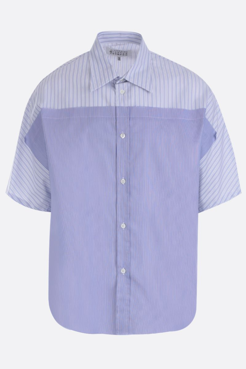 MAISON MARGIELA: striped poplin short-sleeved shirt Color Multicolor_1