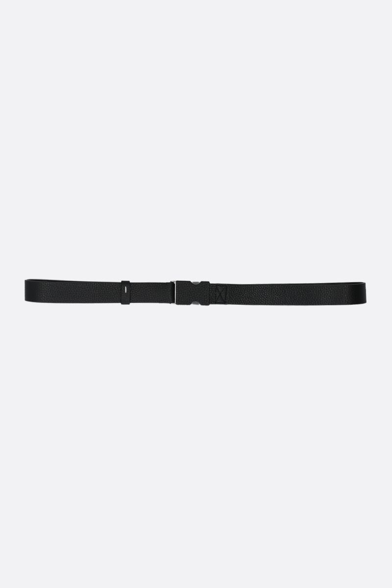 MAISON MARGIELA: grainy leather belt Color Black_1