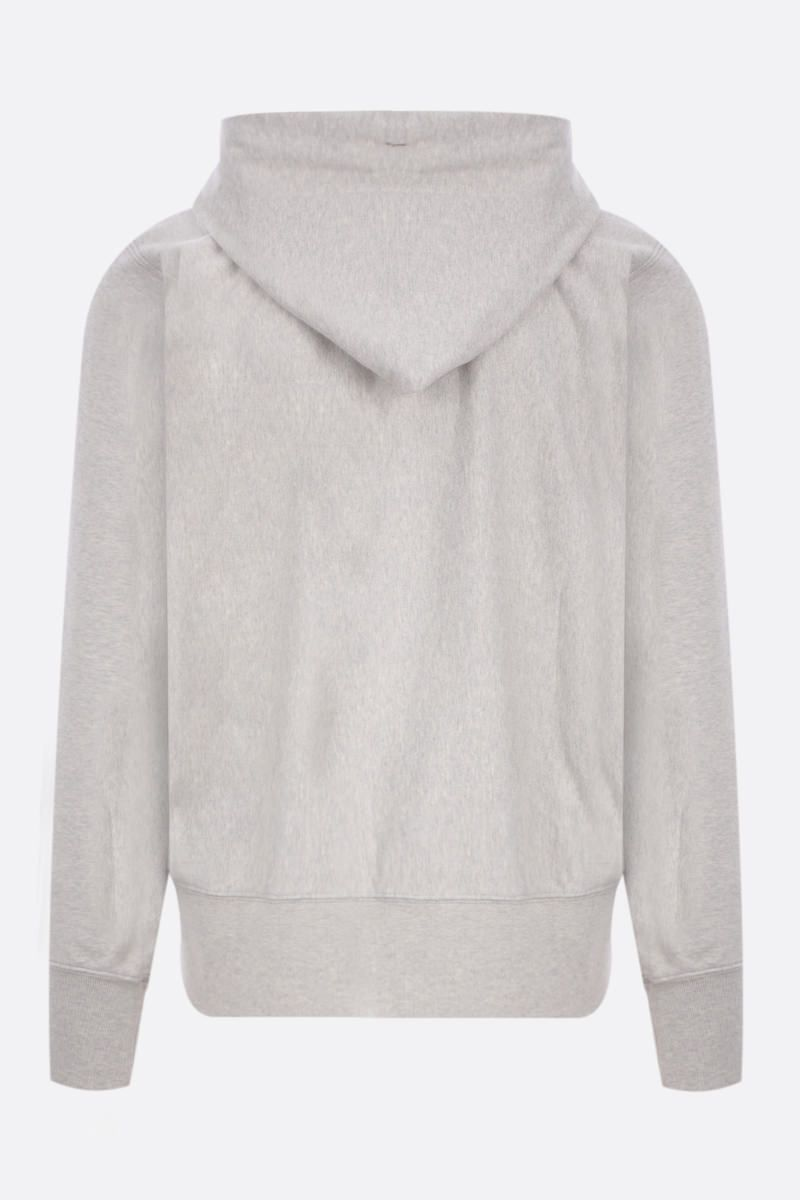 MAISON MARGIELA: embroidered full-zip cotton hoodie Color Grey_2
