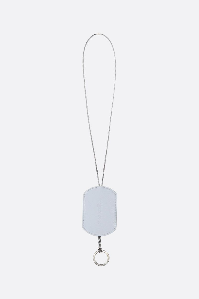 MAISON MARGIELA: Multi-Wear necklace in sterling silver Color White_1