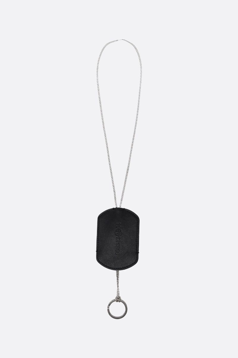 MAISON MARGIELA: Multi-Wear necklace in sterling silver Color Black_1