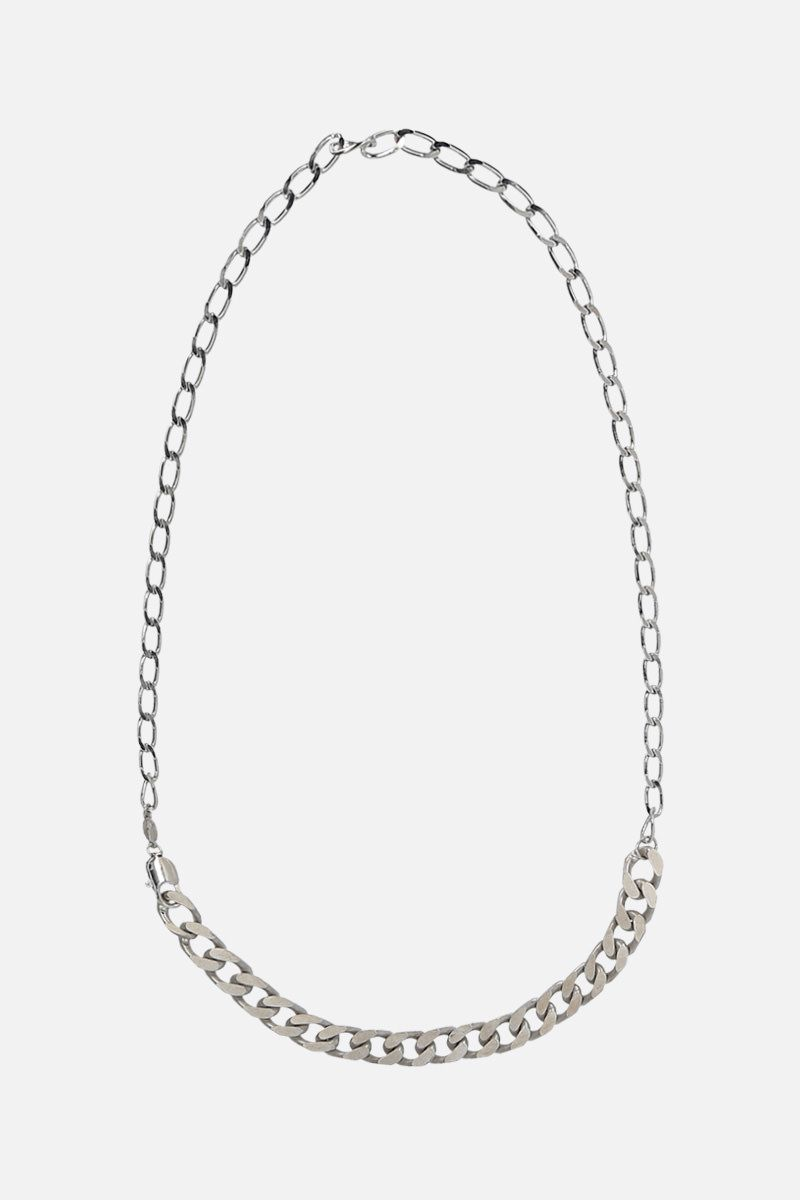 MAISON MARGIELA: sterling silver chain necklace Color Silver_1
