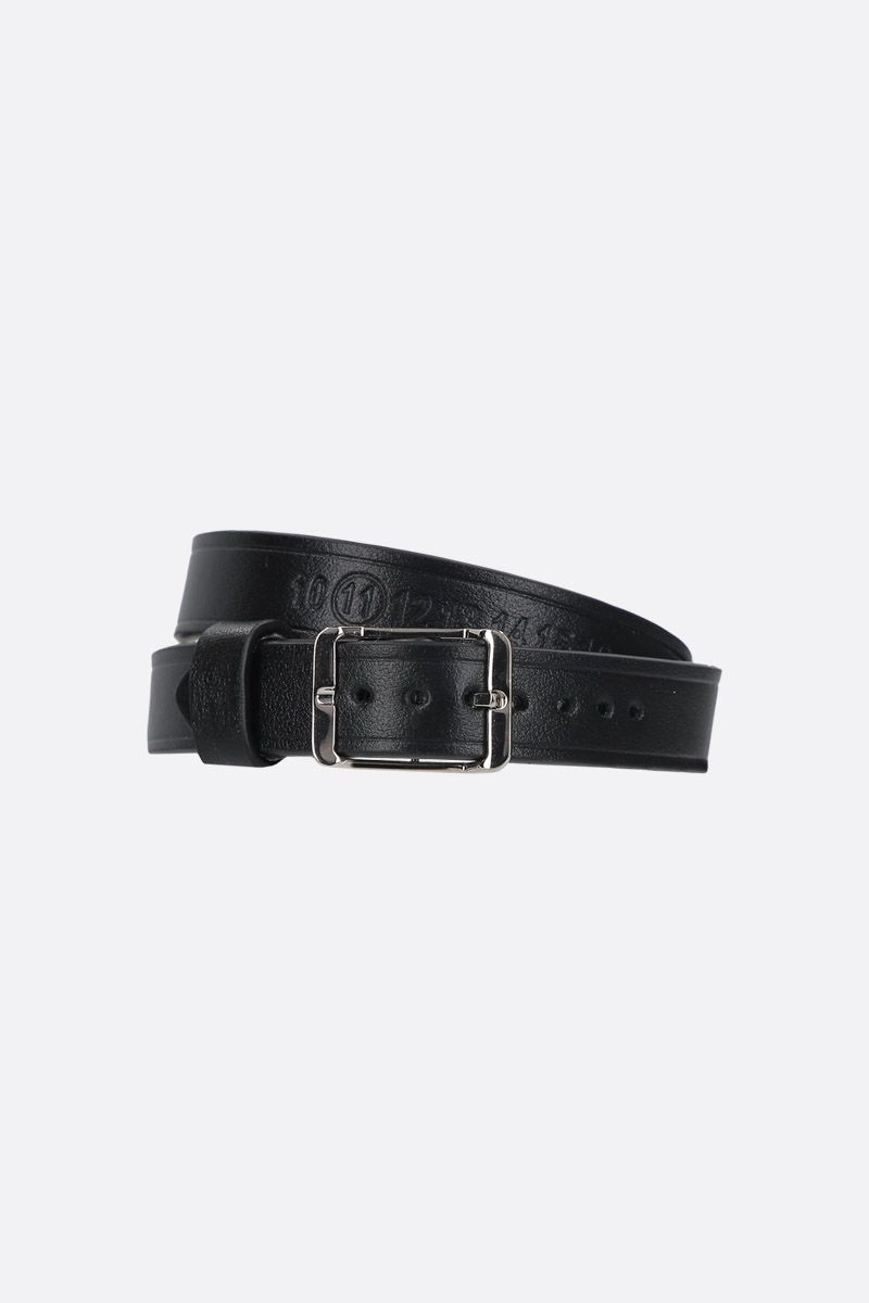 MAISON MARGIELA: smooth leather double-wrap bracelet Color Black_1