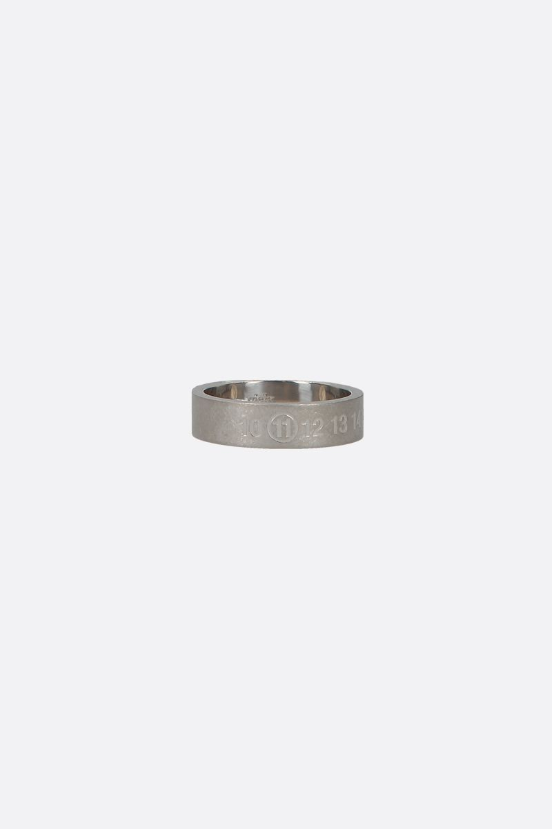 MAISON MARGIELA: numerical logo engraved sterling silver ring Color Silver_1