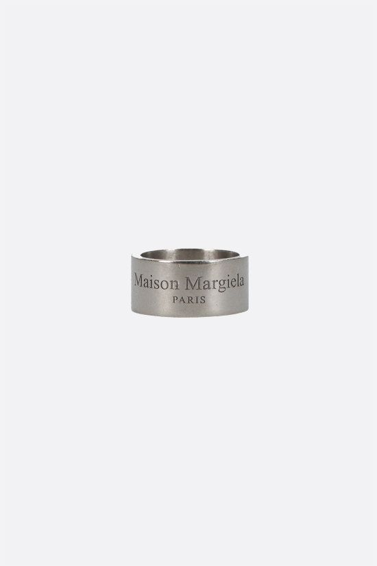 MAISON MARGIELA: sterling silver band ring Color Gold_1