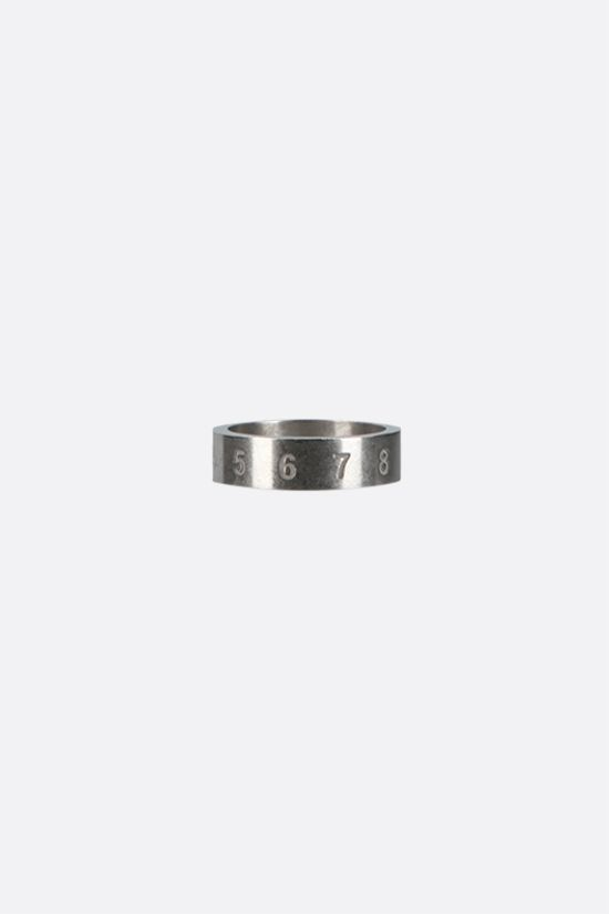 MAISON MARGIELA: numerical logo-detailed sterling silver ring Color Gold_1