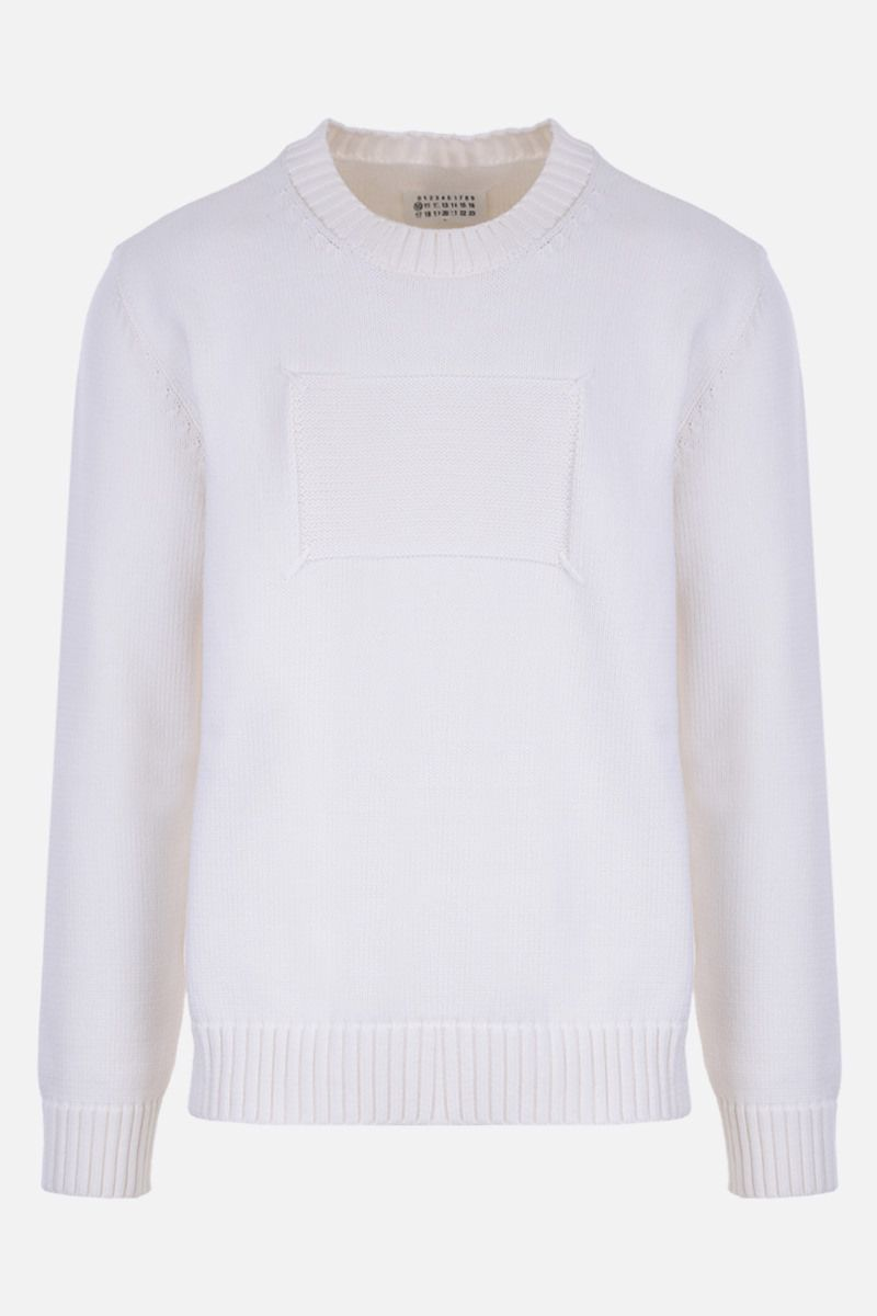 MAISON MARGIELA: Memory Of cotton blend pullover Color White_1