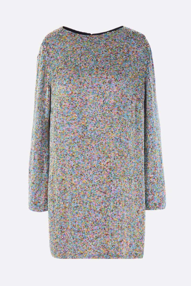 MARIT ILISON: sequinned short dress Color Multicolor_1