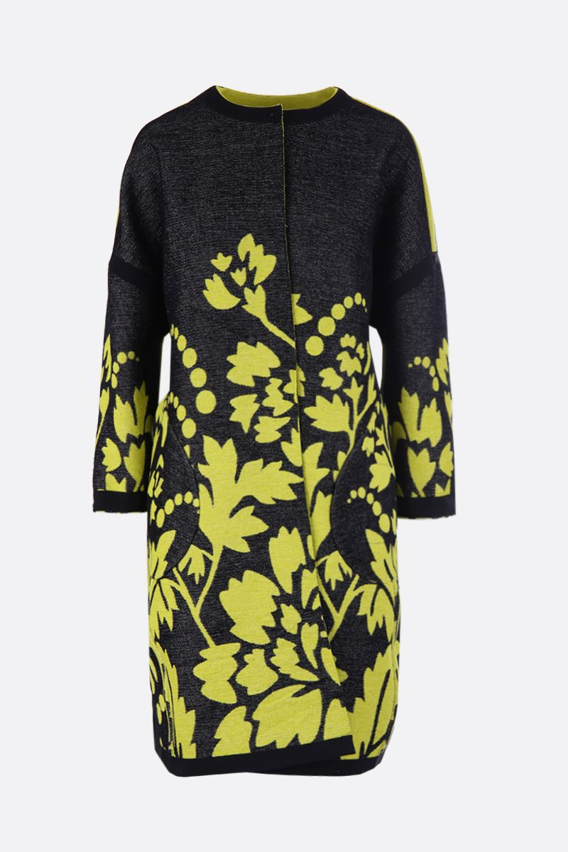 MARIT ILISON: LFS Reversible coat in floral jacquard_2