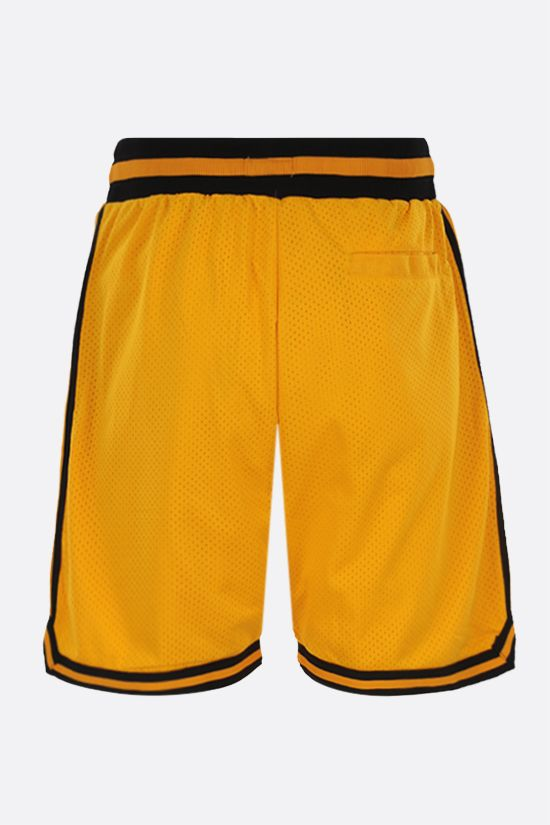 CHINATOWN MARKET: pantalone corto Smiley in mesh Colore Giallo_2