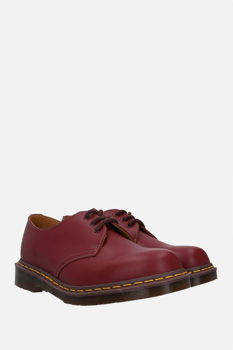 DR. MARTENS: 1461 smooth leather derby shoes Color Red_2