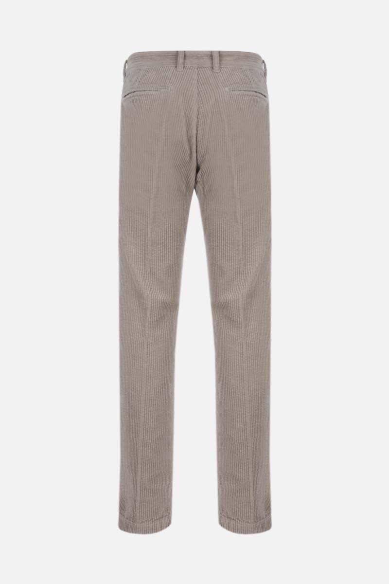 MASSIMO ALBA: slim-fit ribbed velvet pants Color Neutral_2