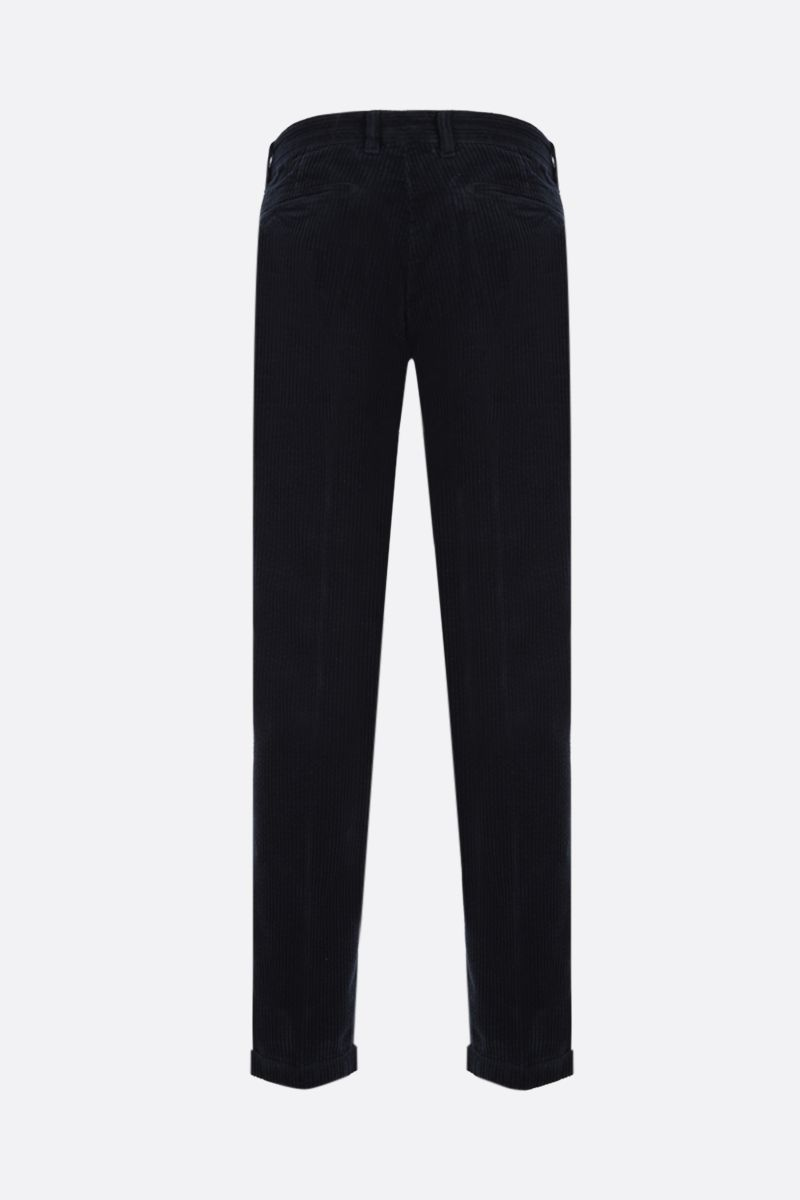 MASSIMO ALBA: slim-fit ribbed velvet pants Color Blue_2