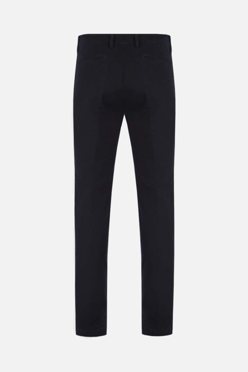 MASSIMO ALBA: slim-fit stretch gabardine pants Color Blue_2