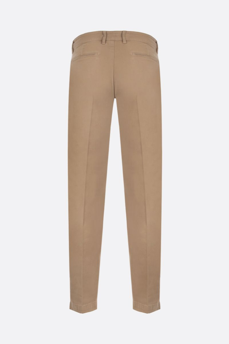 MASSIMO ALBA: slim-fit stretch gabardine pants Color Brown_2