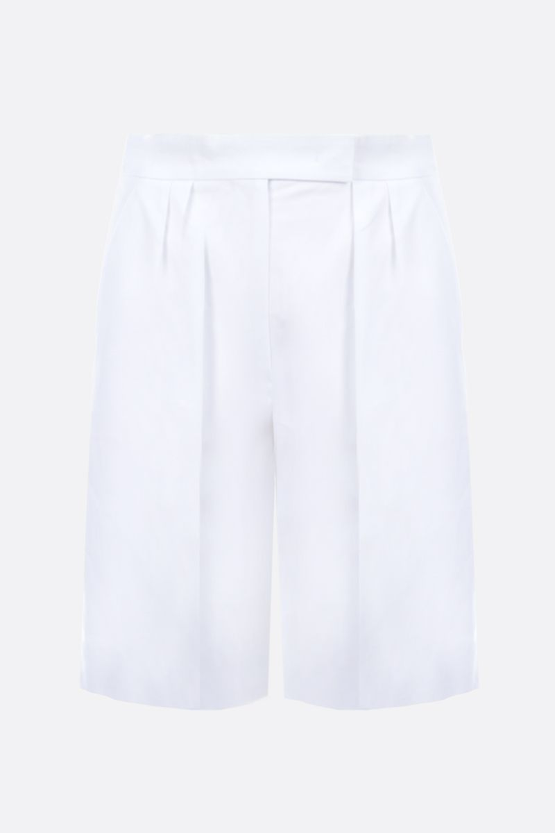 MAX MARA: Safari cotton darted shorts Color White_1