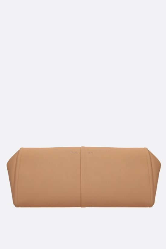 MAX MARA: Elsap smooth leather clutch Color Orange_1