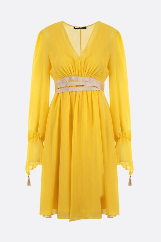 MAX MARA: Damien silk georgette midi dress Color Yellow_1
