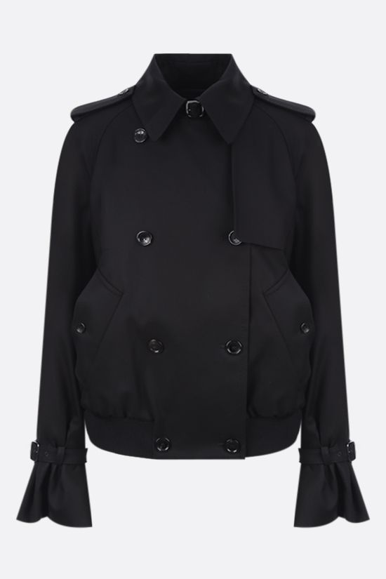 MAX MARA: Fabian double-breasted gabardine trench coat Color Black_1