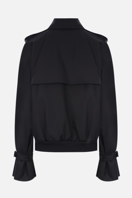 MAX MARA: Fabian double-breasted gabardine trench coat Color Black_2