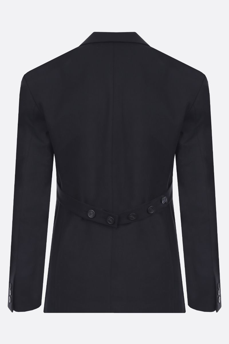 AMBUSH: wool blend double-breasted jacket Color Black_2