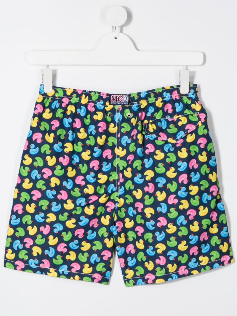 MC2 Saint Barth: ducky print nylon swim shorts_2