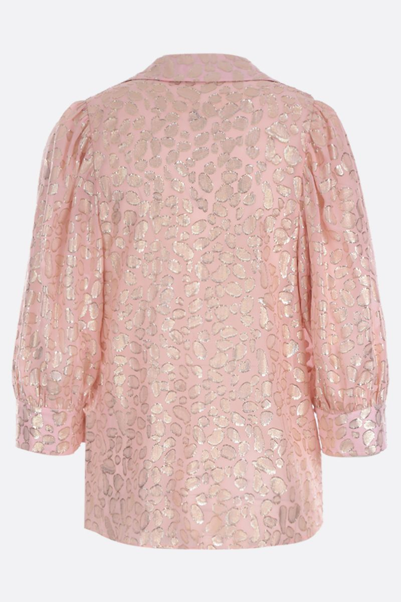 STELLA McCARTNEY: Reese leopard embroidered silk shirt_2