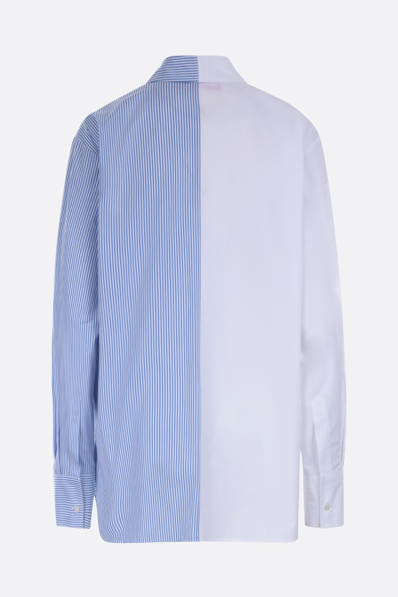 STELLA McCARTNEY: We are the weather print cotton oversized shirt Color White_2