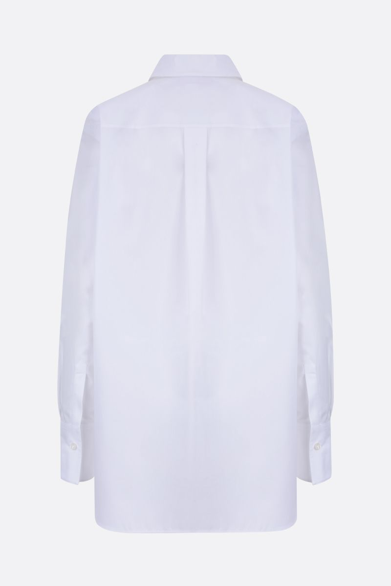 STELLA McCARTNEY: embroidered ribbon-detailed cotton shirt Color White_2