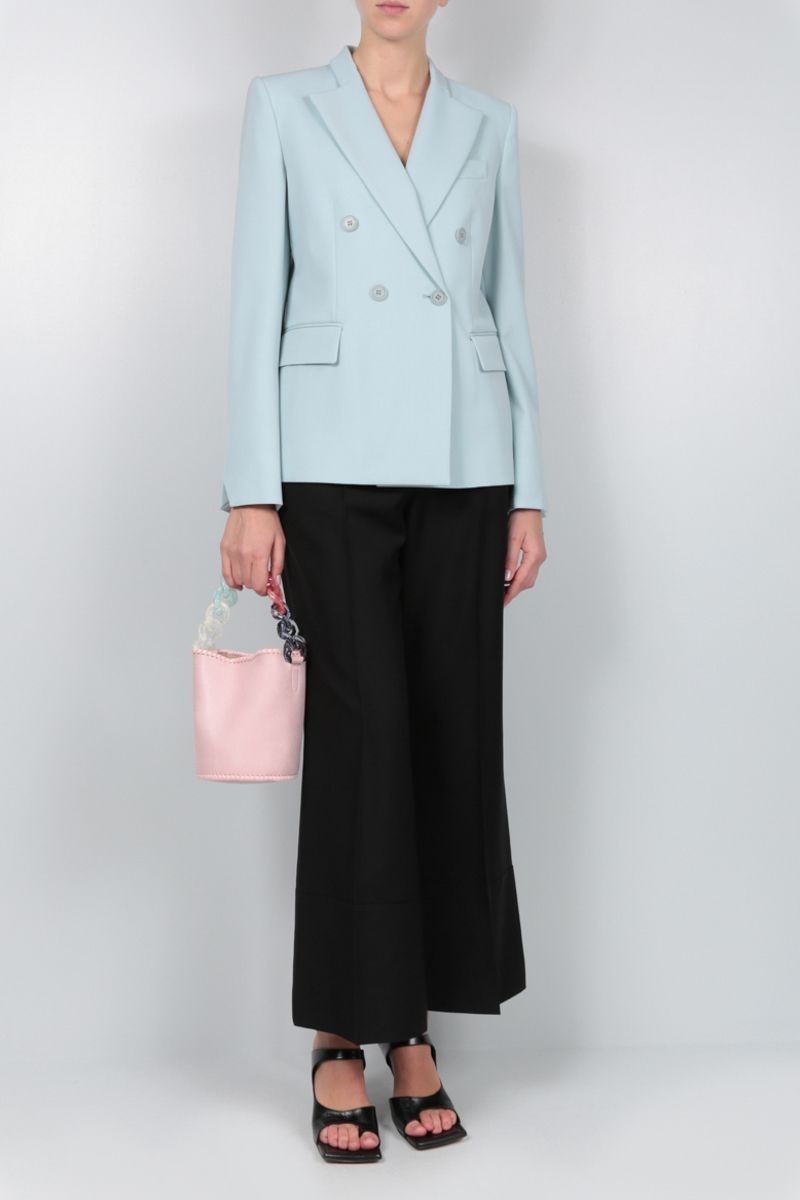 STELLA McCARTNEY: stretch wool double-breasted jacket Color Blue_2