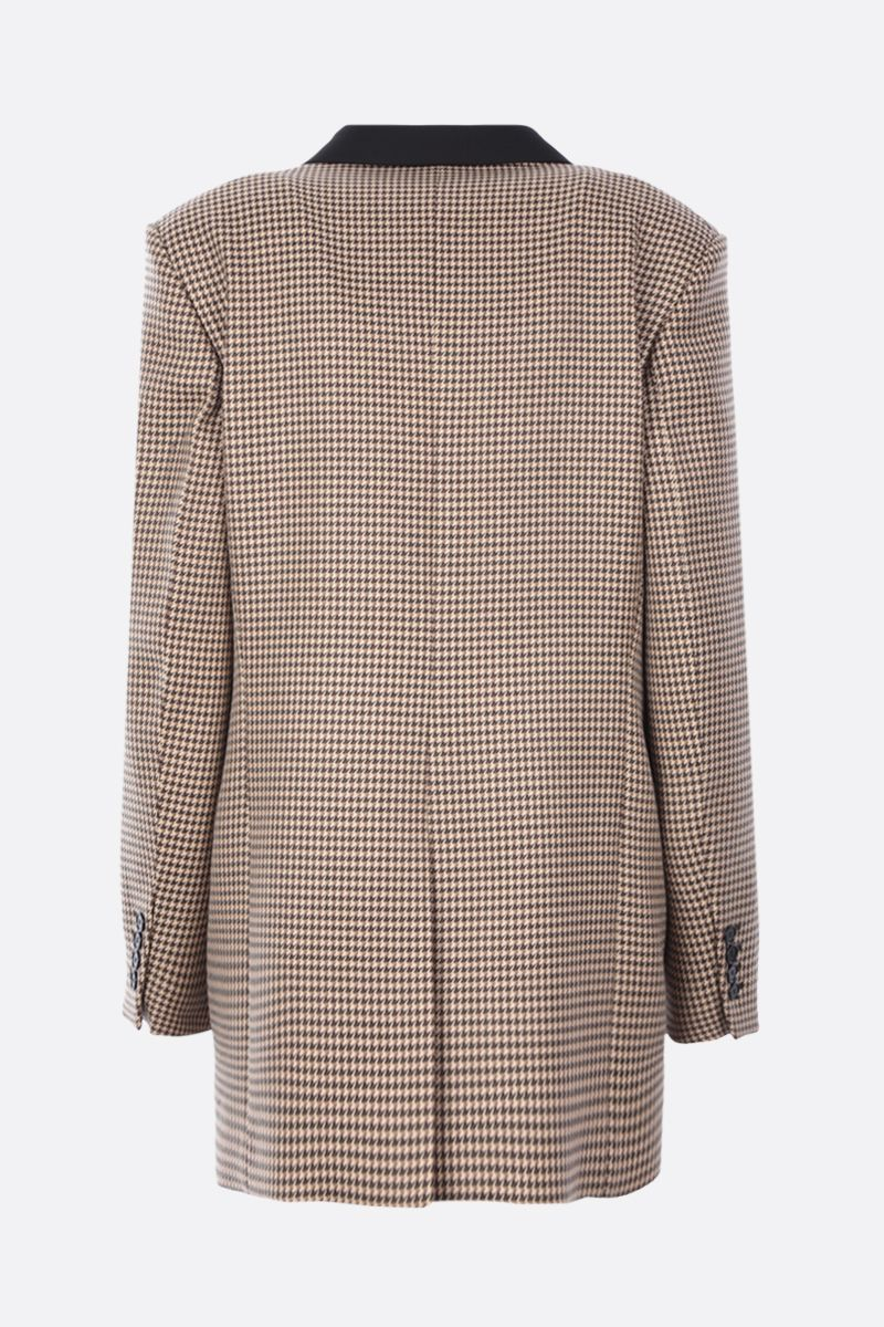 STELLA McCARTNEY: Meya double-breasted houndstooth wool jacket Color Brown_2