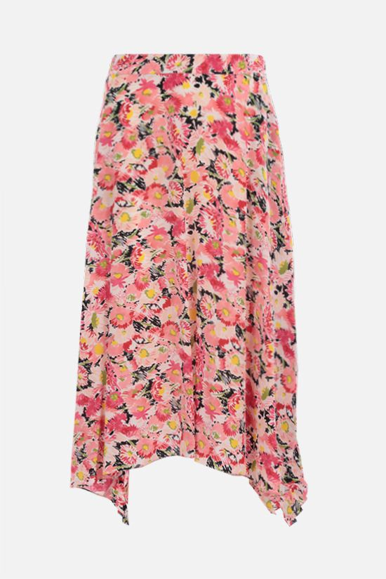 STELLA McCARTNEY: Ashlyn silk midi skirt Color Multicolor_1