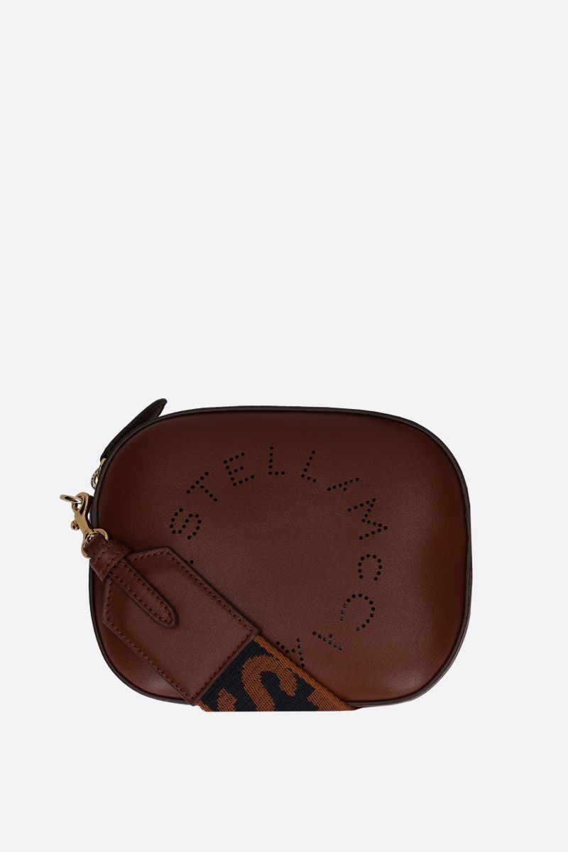 STELLA McCARTNEY: Stella Logo belt bag in Alter Nappa Color Neutral_2