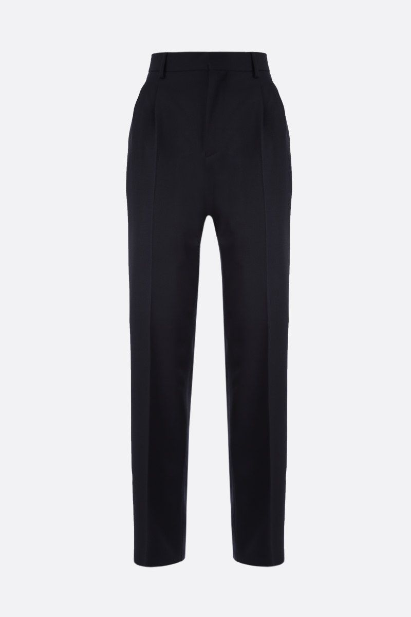 STELLA McCARTNEY: wool darted pants Color Black_1