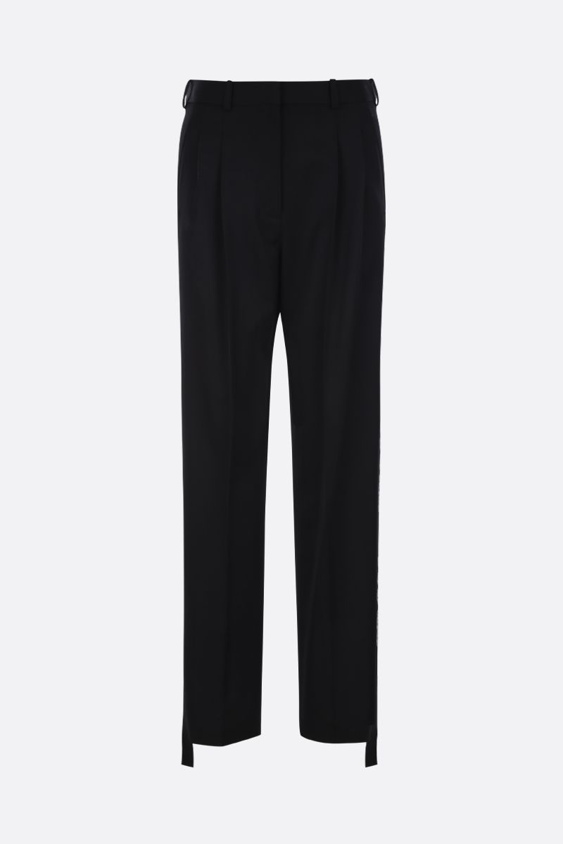 STELLA McCARTNEY: We are the weather bands-detailed wool darted pants Color Black_1
