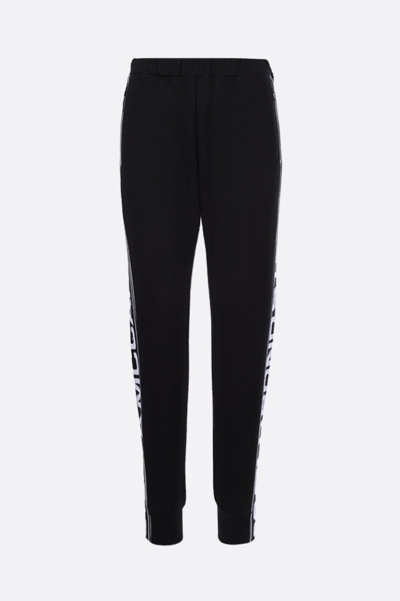 STELLA McCARTNEY: 23 Old Bond St. London band-detailed cotton joggers Color Black_1