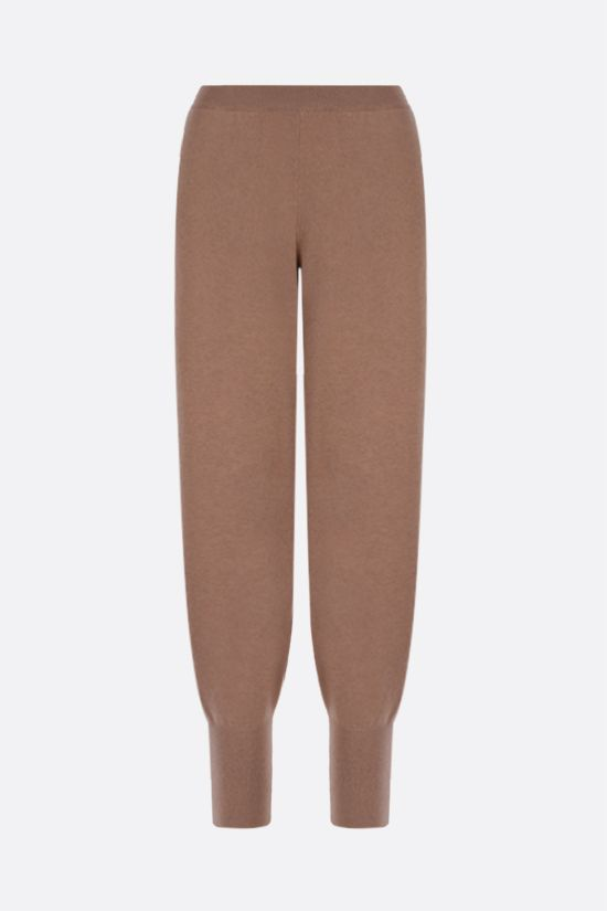 STELLA McCARTNEY: cashmere wool blend joggers Color Brown_1