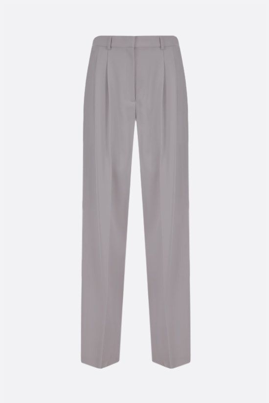 STELLA McCARTNEY: Louise wool darted pants Color Grey_1