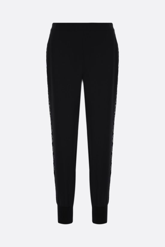 STELLA McCARTNEY: Julia stretch cady joggers Color Black_1