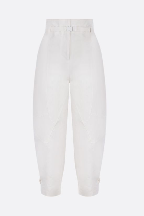 STELLA McCARTNEY: Daisy cotton linen blend slouchy-fit pants Color Neutral_1