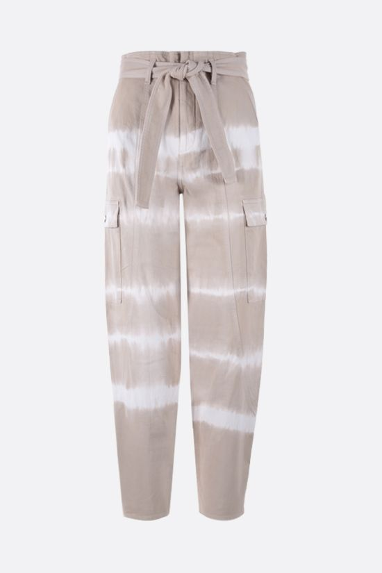 STELLA McCARTNEY: Bamboo Safari tie-dye cotton pants Color Brown_1