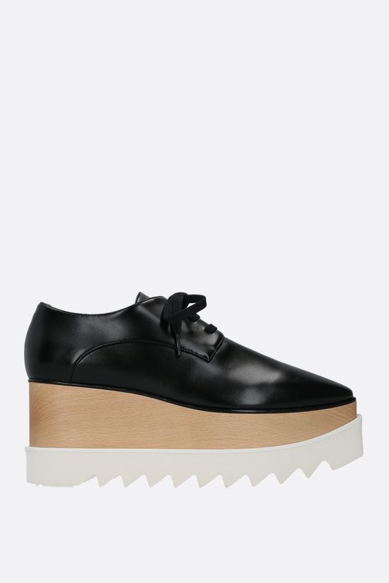 STELLA McCARTNEY: scarpa derby Elyse in Alter Nappa lucida Colore Nero_1