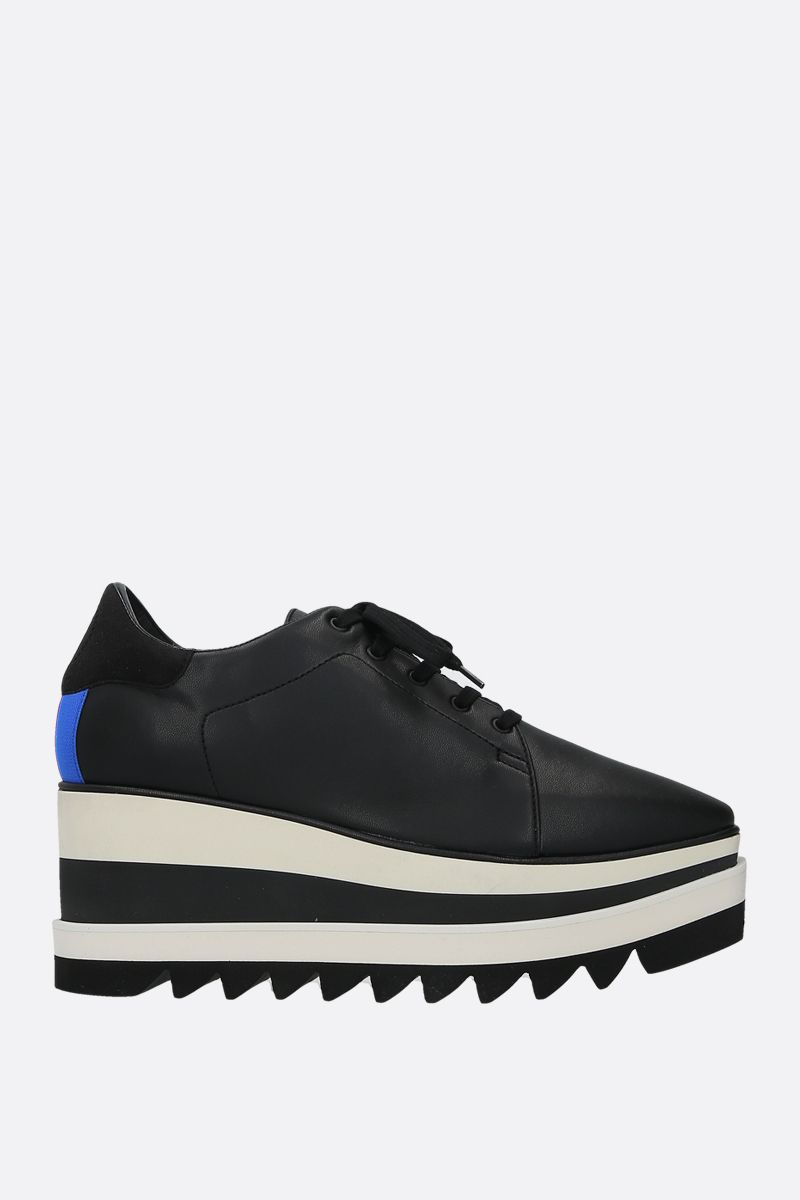 STELLA McCARTNEY: Sneak-Elyse flatform derby shoes in Alter Nappa Color Black_1