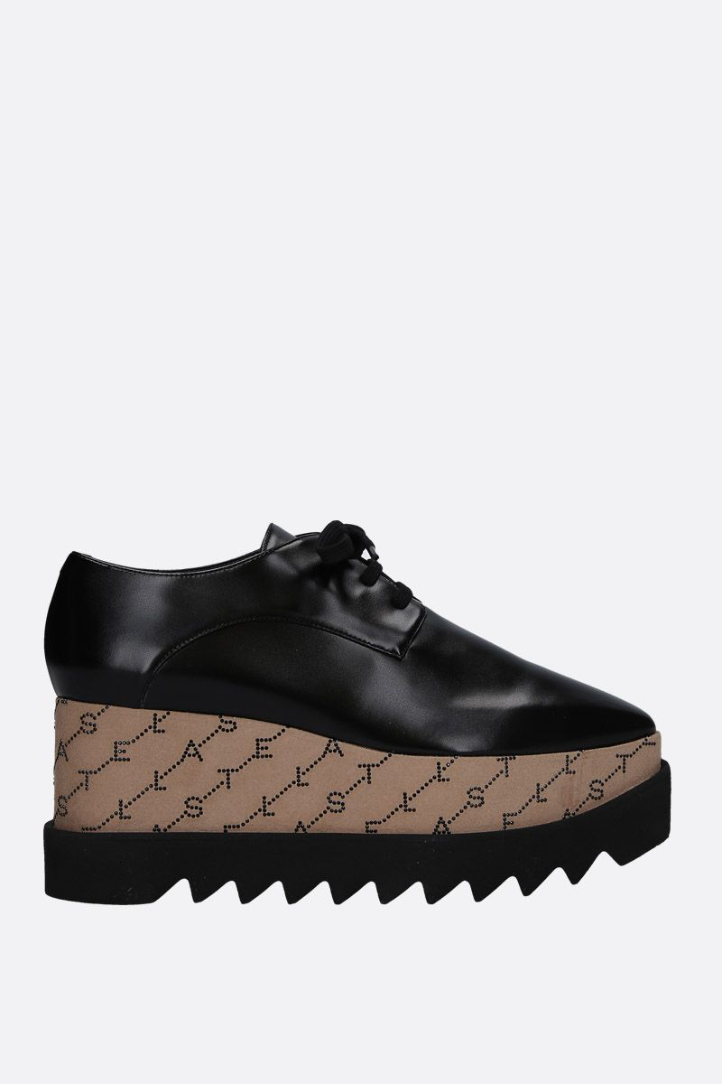 STELLA McCARTNEY: Elyse derby shoes in Alter Nappa Color Black_1