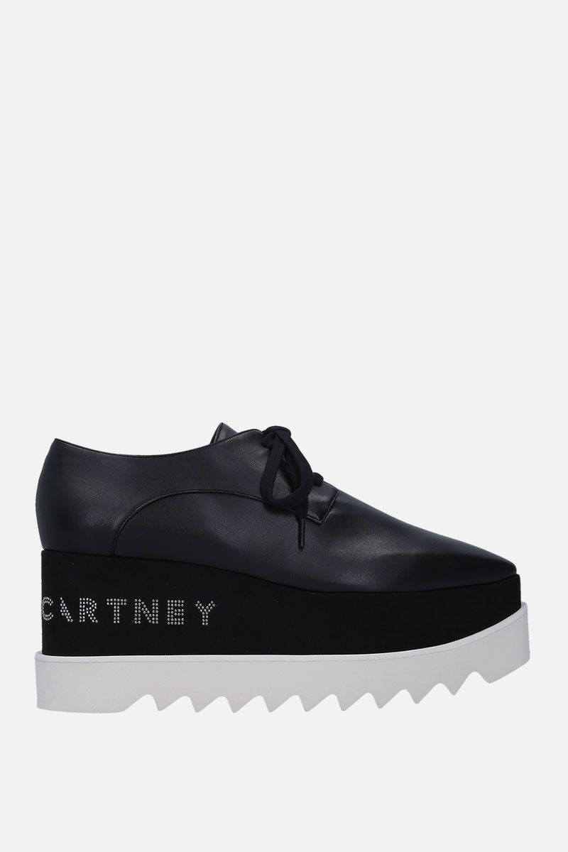 STELLA McCARTNEY: Elyse Alter Nappa derby shoes Color Black_1