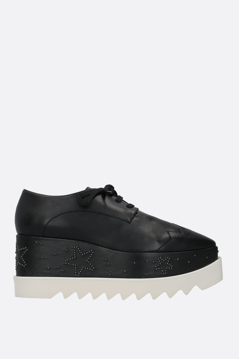 STELLA McCARTNEY: scarpa derby Elyse in Alter Nappa Colore Nero_1