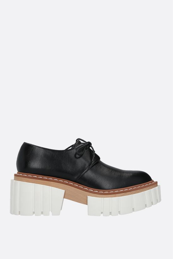 STELLA McCARTNEY: Emilie derby shoes in Alter Nappa Color Black_1