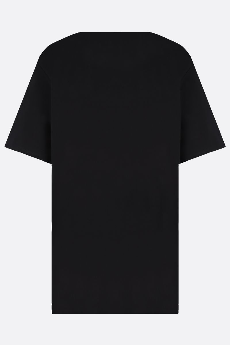 STELLA McCARTNEY: t-shirt oversize in cotone stampa 23 Old Bond St. London Colore Nero_2