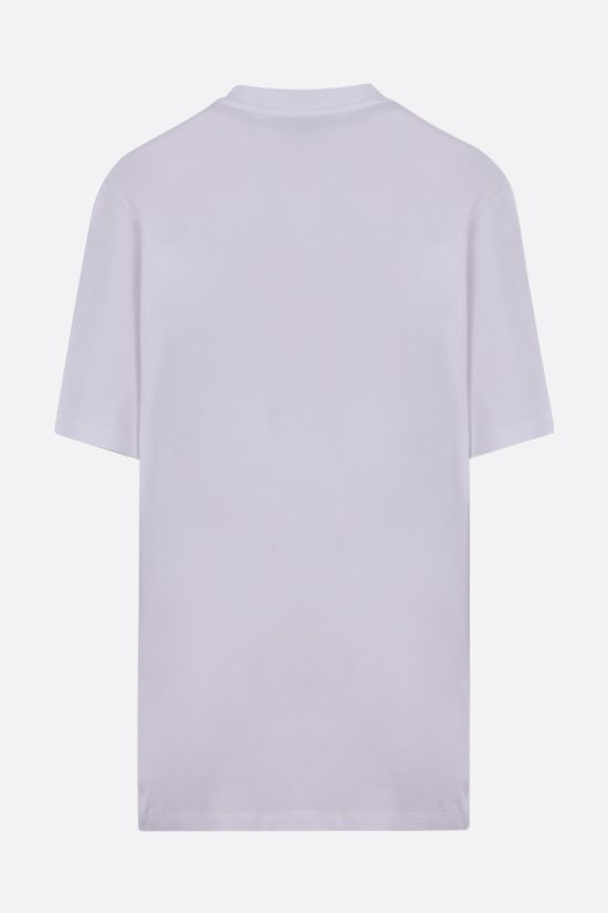 STELLA McCARTNEY: 23 OBS sustainable cotton oversize t-shirt Color White_2